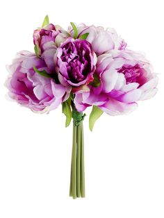 Peony Bouquet in Lavender Purple 9.5in. Tall SLK-FBQ315-VI $7.89