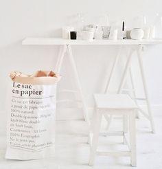 Le sac en papier papirposen som kan brukes til alt! Du finner den på www.multitrend.no - gratis frakt