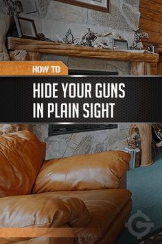 How to Conceal Your Weapons - DIY Gun Safes | Weapons Clever Safety Storage by Gun Carrier http://guncarrier.com/conceal-weapons-diy-gun-safes/