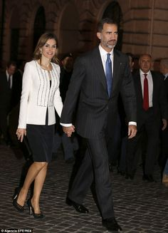 Spain's King Felipe VI and his wife, Queen Letizia, have arrived in Italy for an official ...