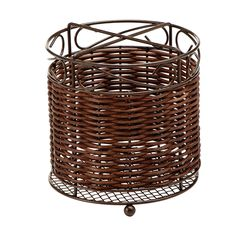 Anchor Hocking Intermezzo Wicker and Wire Kitchen Utensil Holder >>> Quickly view this special  product, click the image : Utensil Organizers