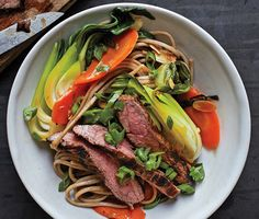 Steak and Soba Stir-Fry Recipe  at Epicurious.com
