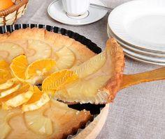 Рецепт творожного пирога с фруктами