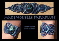 bracelet macramé bleu et vert anis pierre by mademoiselleparaplui