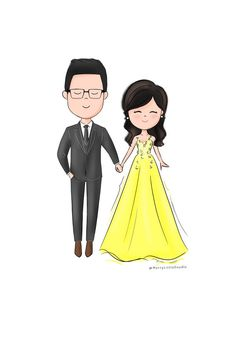 Cute illustration for your wedding