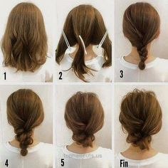 20 Hair Tutorials You Can Totally DIY – The Right Hairstyles for You Simple Messy Updo For Medium Hair Tutorial http://www.tophaircuts.us/2017/05/07/20-hair-tutorials-you-can-totally-diy-the-right-hairstyles-for-you/