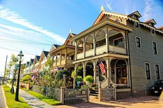 The entire city of Cape May is designated the Cape May Historic District, a National Historic Landmark due to its concentration of Victorian buildings.