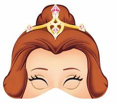 Máscaras de Bella de media cara para Imprimir Gratis.