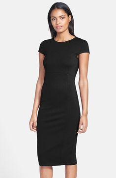 Seamed Pencil Dress (Nordstrom Exclusive) (Regular & Petite)