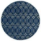 Revolution Navy (Blue) 9 ft. 9 in. x 9 ft. 9 in. Round Area Rug