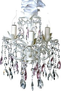 chandelier~ make all of the fixture bold, the crystals multicolored, and the lamps have flames