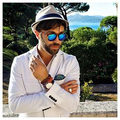 Fashion guru @Fashionising .com .com from New York wears his #danielwellington on vacation in St Tropez in this classy way. We absolutely love it! #watch #fashion #preppy #elegant #details #gentleman #StTropez
