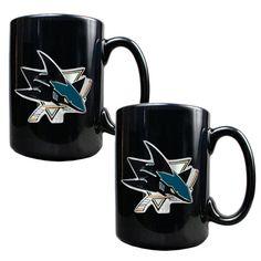 NHL San Jose Sharks 2pc Coffee Mug Set