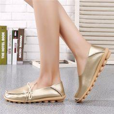 $16.19 Big Size Shine Lace Up Flat Soft Pure Color Leather Shoes   flat shoes women's flats flats shoes flat  womens shoes flats 