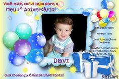CONVITE ANIVERSÁRIO INFANTIL COM FOTO