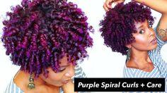 Purple Spiral Curls   Natural Hair [Video] - http://community.blackhairinformation.com/video-gallery/natural-hair-videos/purple-spiral-curls-natural-hair-video/
