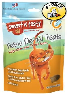 Smart n' Tasty Cat Chicken Dental Grain Free Treats (Pack of 3) ** Visit the image link more details. (This is an affiliate link and I receive a commission for the sales)