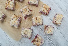 Well Nourished ⎮ Healthy Raspberry and Coconut Slice - This is my healthy spin on an old fashioned classic - a delicious Raspberry Coconut Slice. For a three layer slice its remarkably quick and easy to make.