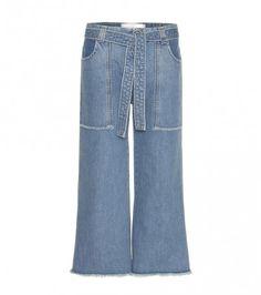 Jeans-culottes Patch Pocket