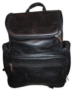 824cbf1608b9 Kenneth Cole Large Laptop Black Leather Backpack