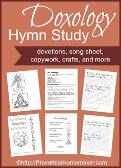 Printable study for the doxology