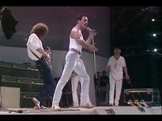 Queen Perform Live at LIVE AID on 13 July 1985 [ORIGINAL] .one of the ALL time best live performances in modern music. Freddy Mercury owned this show! Freedie Mercury, Queen E, Live Aid, Queen Freddie Mercury, David Bowie, My Music, Rock N Roll, Music Videos, All About Time