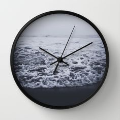 """""""Out to Sea"""" Wall Clock by Leah Flores on Society6."""
