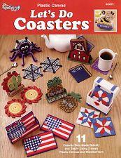 Let's Do Coasters ~ 11 Unique Sets easy plastic canvas patterns OOP rare