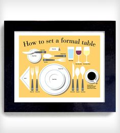 How to Set a Formal Table Print
