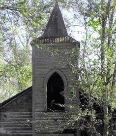 old church steeple window