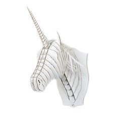 Weird stuff makes me feel normal.  Merlin Unicorn Trophy White, $27.50, now featured on Fab.