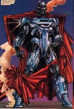 Inspired by Superman, John Henry Irons mimicked his powers with technology. Superman Characters, Superman Comic, Comic Book Characters, Comic Character, Batman, Comic Book Guy, Comic Books Art, Book Art, Steel Dc Comics