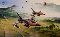 F-105s over Thud Ridge, North Vietnam By Robert Taylor