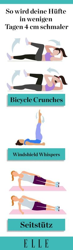 Du willst deinen Hüftspeck loswerden? Wir zeigen euch drei Übungen, die in wenigen Tagen den Umfang um vier Zentimeter schrumpfen lassen. #weight #hips #training #fitness #workout #excercises #lifestyle #healthy #trending #sports