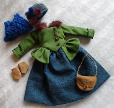18th+C.+Moss+Green+&+Teal+Winter+Outfit+for+Hitty+by+Islecroft