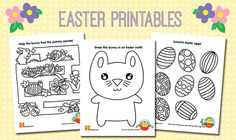 Easter Printable activity sheets for kids | alextoys.com