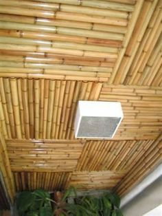 Bamboo Roof, Bamboo Ceiling, Tropical Furniture, Bamboo Furniture, Bamboo House Design, Modern House Design, Bamboo Architecture, Sustainable Architecture, Roof Design