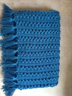 Hairpin lace baby blanket