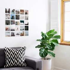 7 Square Print Display Hacks to Try at Home | Artifact Uprising Bare walls, be gone. Tape up a 5-by-5 photo grid that tells your best stories (plus, your walls will thank you for leaving them unmarked).