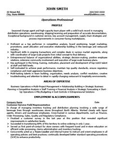 A professional resume template for a Customer Service Professional ...
