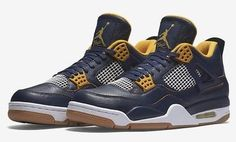 0bd5c0a1b92a Nike Air Jordan Retro 4 Dunk From Above Size Navy Gold White