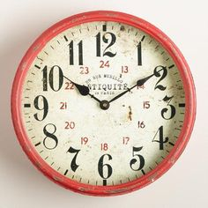 One of my favorite discoveries at WorldMarket.com: Daphne Kitchen Clock - maybe above HIS tv