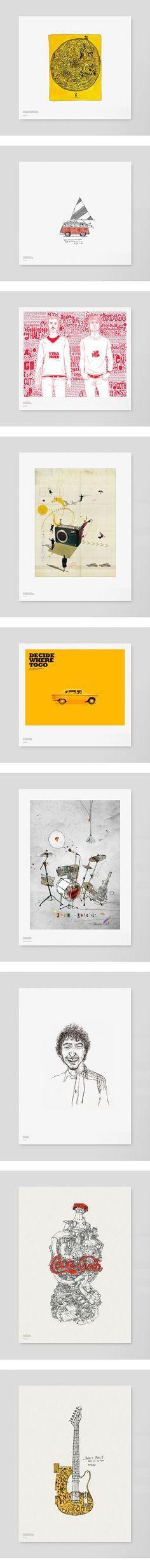Illustration Various 01 by DongGeun Lee, via Behance