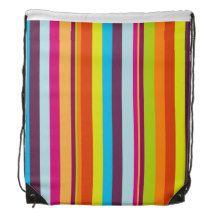 Stripe Pattern Backpacks