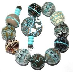 "Justmade Handmade Lampwork Beads ""Morning Dawn"" | eBay"
