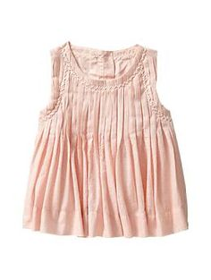 Pleated sparkle tank | Gap So simple and cute. What I like for my baby doll. Getting this shirt for summertime!