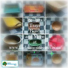 Basket Tray, Baskets, Montessori Practical Life, Trays, Bowls, Serving Bowls, Hampers, Basket, Tray