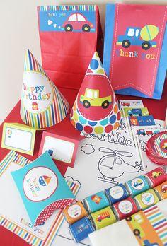 Transportation Birthday Printable Party Kit  by stockberrystudio, via Flickr Baby Boy First Birthday, 2nd Birthday, Birthday Ideas, Party Kit, Car Party, Party Ideas, Transportation Birthday, Cars Birthday Parties, Printable Party
