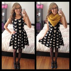 H&M Cat Dress - Birthday Outfit ModCloth Style Gallery! Cutest community ever. #indie #style