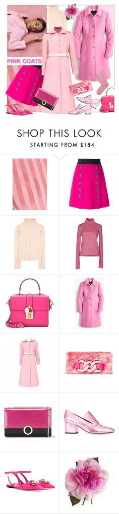 """Pretty Pink Coats"" by sylandrya ❤ liked on Polyvore featuring Altuzarra, Dolce&Gabbana, Chloé, Dunn, Au Jour Le Jour, J.Crew, Courrèges, Oui, Odile!, Bulgari and Dorateymur"